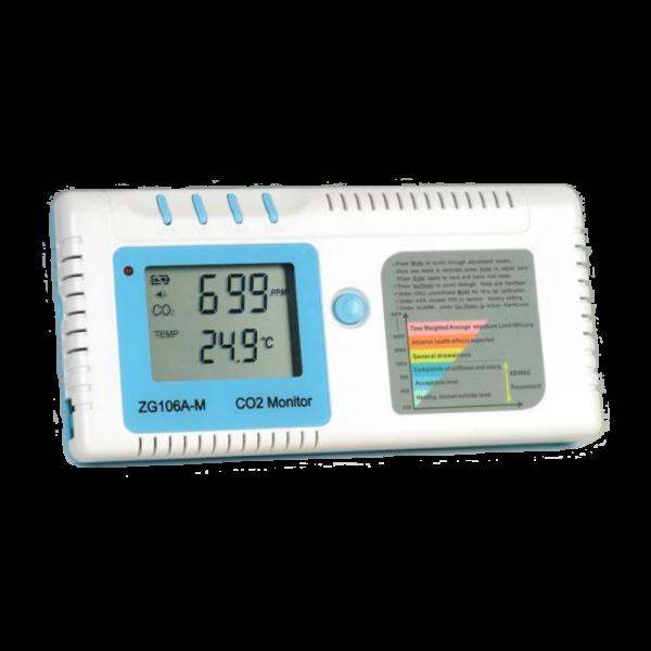 Přenosný pokojový záznamník hodnoty koncentrace CO2 a teploty ZG106